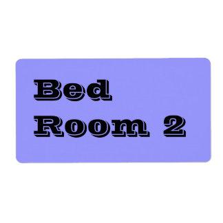Flyttande etiketter för sängrum 2 i bleken - blått fraktsedel