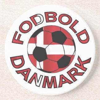Fodbold Danmark fotboll Danmark Glasunderlägg I Sandsten