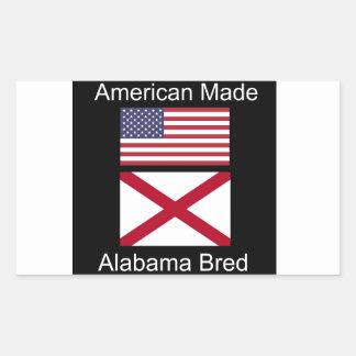 """""""Född amerikan. Alabama födde upp"""" flaggor och Rektangulärt Klistermärke"""