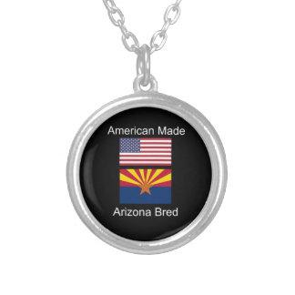 """""""Född amerikan. Arizona födde upp"""" flaggor och Silverpläterat Halsband"""