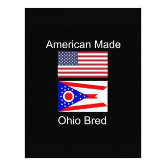 """""""Född amerikan. Ohio födde upp"""" flaggor och Brevhuvud"""