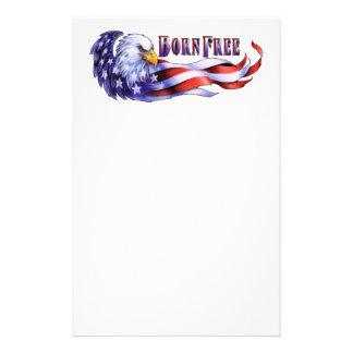 Född fri örn och USA flagga Brevpapper