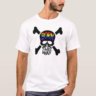 Född hitåt skalle & Crossbones Tshirts