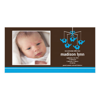 Födelse Annoucement för turkoselefantflicka Fotokort