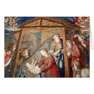 Födelse av Kristustapestryen specificerar Hälsningskort