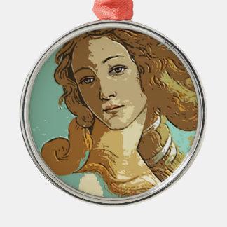 Födelse av Venus, gudinna Julgransprydnad Metall