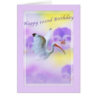 Födelsedag, 102., Ibis och Pansy Hälsningskort