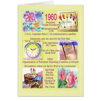 Födelsedag 1960 med roliga fakta om året hälsningskort