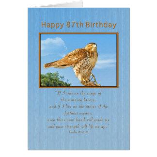 Födelsedag 87th, Buse-lagd benen på ryggen hök Hälsningskort