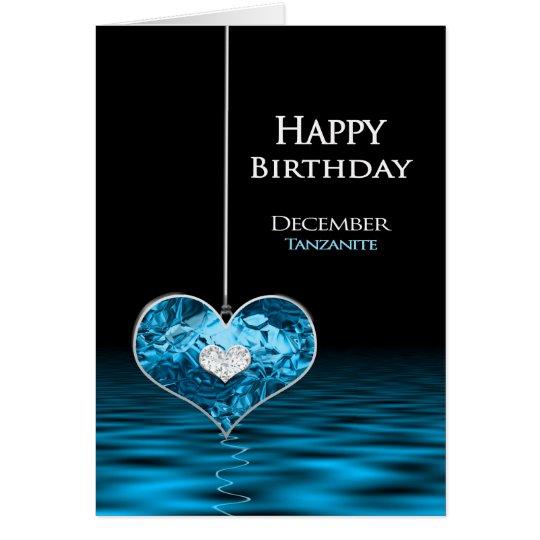 Födelsedag - Birthstone - December - Tanzanite Hälsningskort