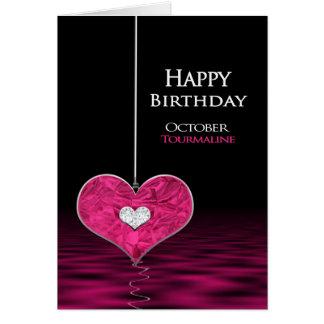 Födelsedag - Birthstone - Oktober - Tourmaline Hälsningskort