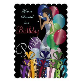 Födelsedag eller Princess Flicka för Bachelorette 12,7 X 17,8 Cm Inbjudningskort
