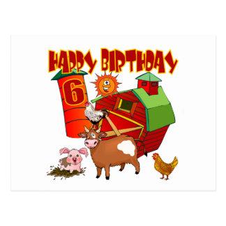 födelsedag för 6efödelsedaglantgård vykort