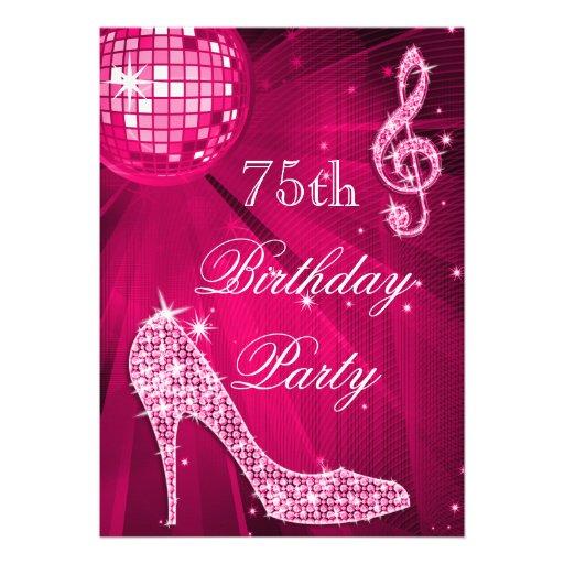 Födelsedag för 75:e för häl för gnistra för shock  tillkännagivanden