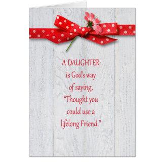 Födelsedag för dotter hälsningskort