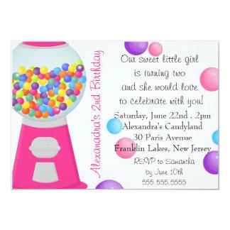 Födelsedag för flicka för party för godis för 12,7 x 17,8 cm inbjudningskort