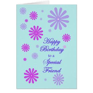 Födelsedag för för vänhälsning för A speciellt Hälsningskort