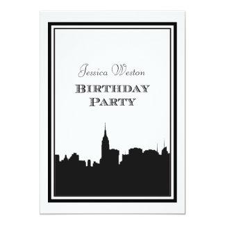 Födelsedag för NYC-horisontSilhouette #2 DIY 12,7 X 17,8 Cm Inbjudningskort