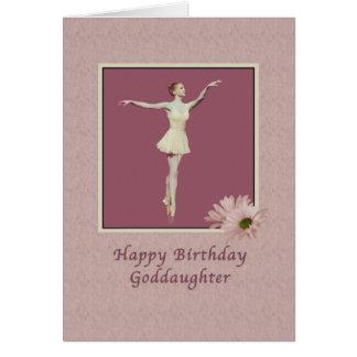Födelsedag Goddaughter, Ballerina på Pointe Hälsnings Kort
