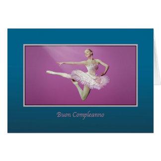 Födelsedag italienare som hoppar ballerinaen hälsningskort
