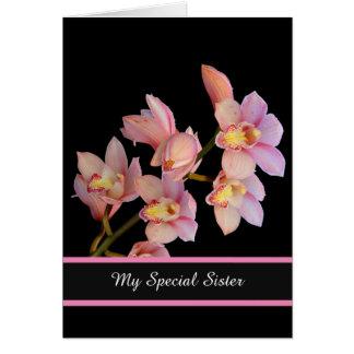Födelsedag Kort-speciella syster Hälsningskort