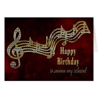 Födelsedag - musik noter hälsningskort