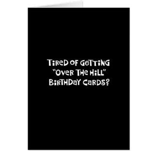 """Födelsedag """"över för backen"""" hälsningskort"""