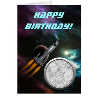 Födelsedag Rocketship Hälsningskort