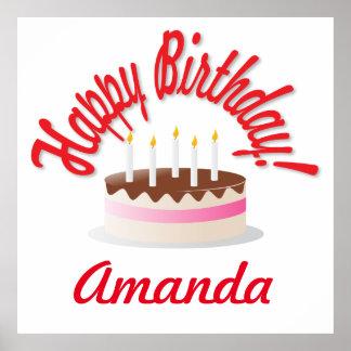 Födelsedag tårta poster