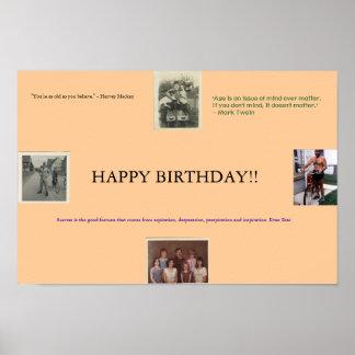 Födelsedagaffisch Poster