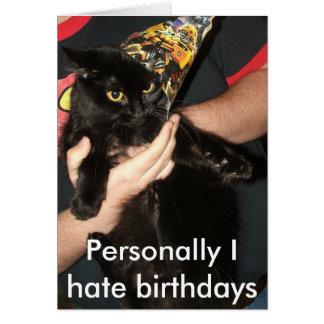 Födelsedagar är inte min sak hälsningskort