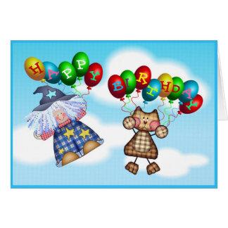 Födelsedagballonger Hälsningskort