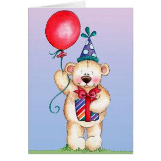 Födelsedagbjörn - hälsningkort hälsningskort