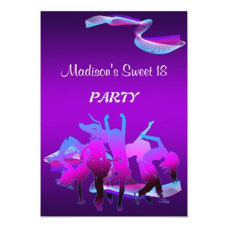 Födelsedagdansparty 12,7 X 17,8 Cm Inbjudningskort