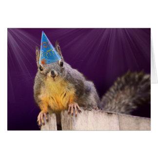 Födelsedagekorrefoto Hälsningskort