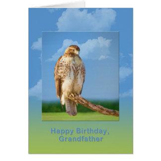 Födelsedagen farfar, ruffar mot den lade benen på hälsningskort