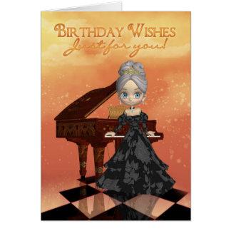 Födelsedagen för kortet för hälsnings kort