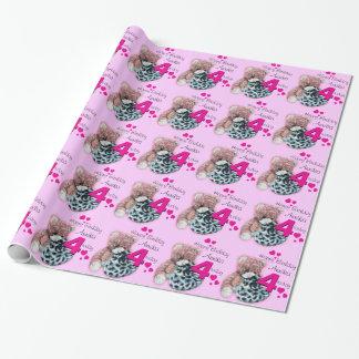 Födelsedagen för leksaker för flickanamnålder 4 presentpapper