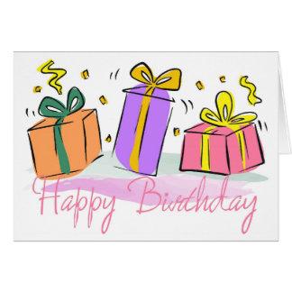 Födelsedagen framlägger flickafödelsedagkortet hälsningskort