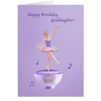 Födelsedagen goddaughteren, musik boxas ballerinae kort