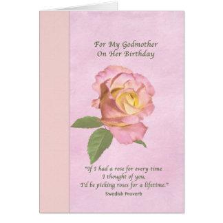 Födelsedagen gudmor, fred steg hälsningskort