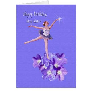 Födelsedagen kliver systern, ballerinaen och hälsningskort