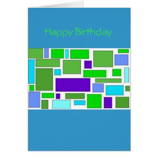 Födelsedagen kvadrerar hälsningskort