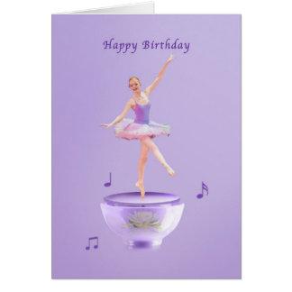 Födelsedagen musik boxas ballerinaen hälsningskort