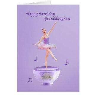 Födelsedagen sondottern, musik boxas ballerinaen hälsningskort