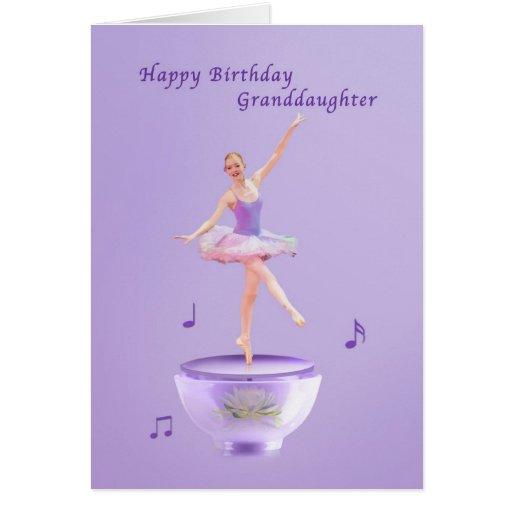 Födelsedagen sondottern, musik boxas ballerinaen kort