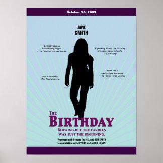 Födelsedagfilmaffischen flickan