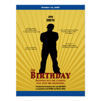 Födelsedagfilmaffischen pojken