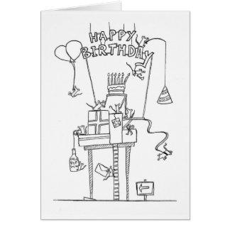 Födelsedaghälsningkort Hälsningskort