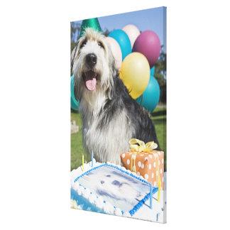 Födelsedaghund Canvastryck